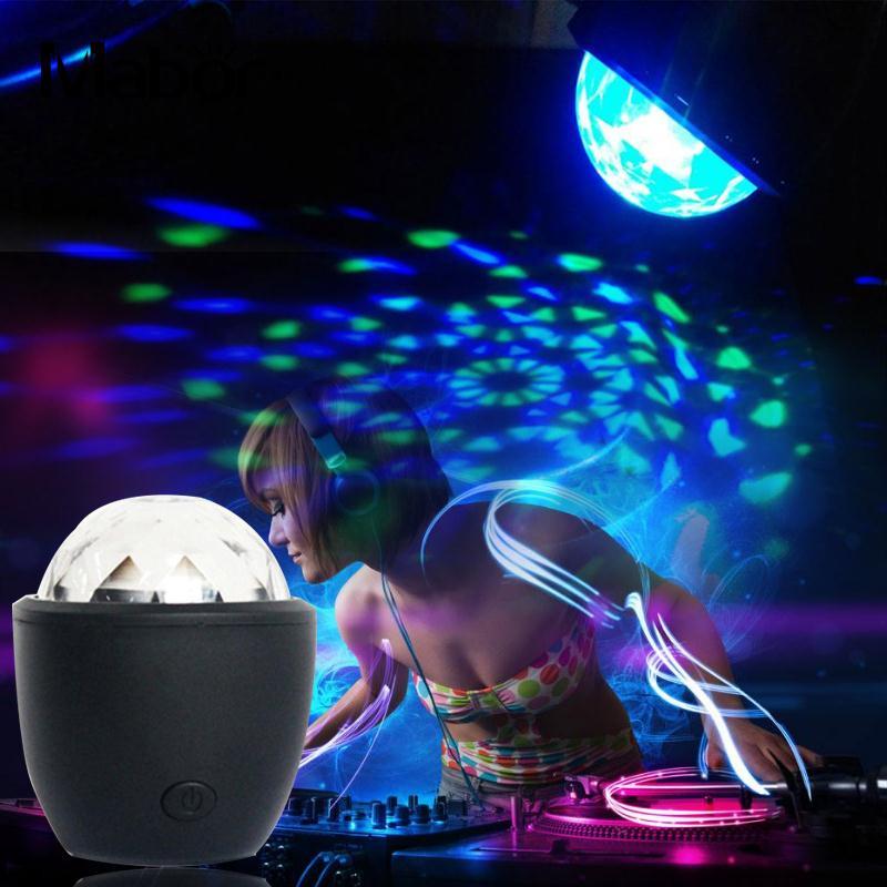 DJ Light Glowing Lighting Fixture Sound Control Disco Bar RGB 5.5*4.5*4.5cm KTV Decor Stage Light Holiday Lighting Party Supply