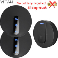 YIFAN Self Powered Waterproof Wireless DoorBell Door Bell Ring 180M Lange No Battery EU Plug 1
