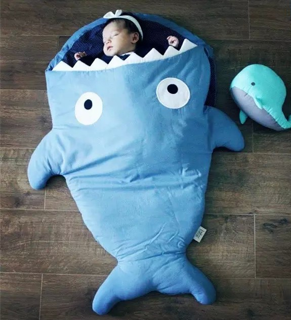 Aliexpress.com : Buy Top quality Cartoon shark sleeping bag 500g in weight  Swaddle Wrap Bedding Newborn 9 12 24 month baby Sleepsack warm heavy from  ...
