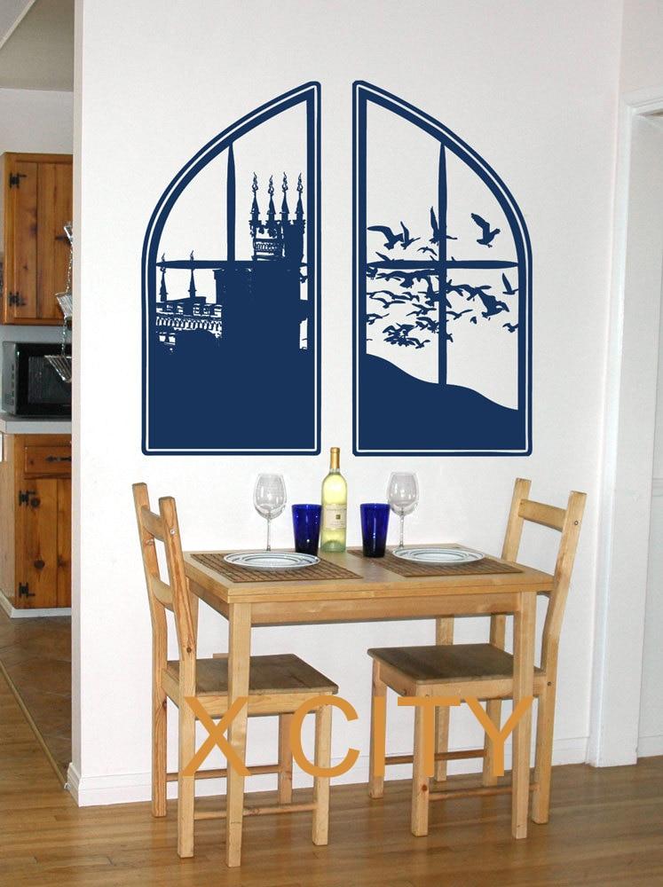 Window Wall Art stencil wall art promotion-shop for promotional stencil wall art