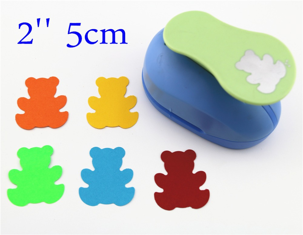 large 2'' 5cm Bear paper punches for scrapbooking craft perfurador diy puncher paper circle cutter3198 цена