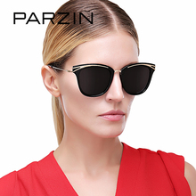 PARZIN Brand Quality Polarized Sunglasses For Women Colorful Coating Mirror Cat Eye Sun Glasses For Summer Party 2017 New Style