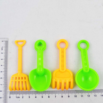 15cm 11 Pieces Set Small Beach Toys Summer Play Children Dredging Shovel Sand Mold Kid Baby Outdoor Games Play House Toy Car G38 4