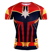Captain Marvel 3d T-shirt Suit Women Carol Danvers Marvel Avengers Endgame Top Cloth Shirt Girl Shirts Kawaii Tee Drop Shipping