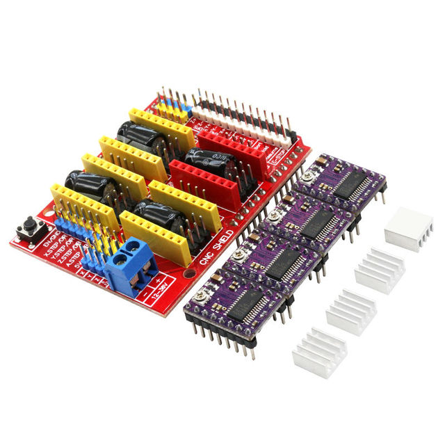 Novo V3 Escudo CNC Gravura Machine/3D Impressora/+ 4 PCS DRV8825 Driver da Placa de Expansão para Aduino