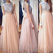 Mode Neue Lange Prom Kleider 2016 Mit Kristall Diamant Günstige Abendkleider Backless Turquoise Homecoming Tanzkleid LH