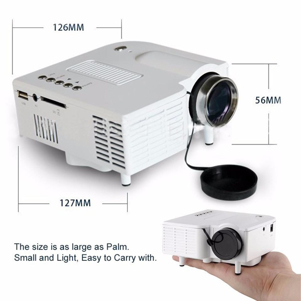 UNIC Multidimension UC28+ household mini LED projector Support computer TV USB flash SD card and DVD Proyector
