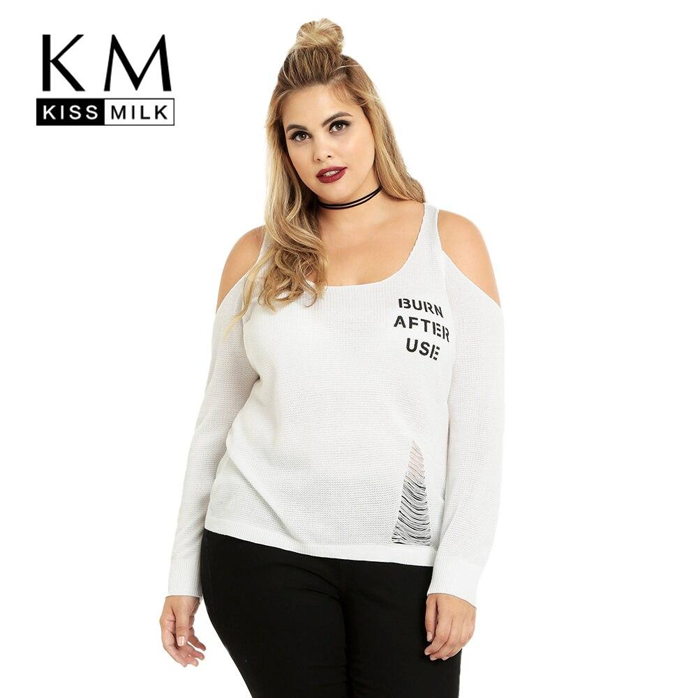 Kissmilk Плюс Размер Мода Женская Одежда Повседневная Твердые Холодный Печати Сломанной Печати Блузка Рубашка О-Образным Вырезом Большой Размер Блузка 6XL