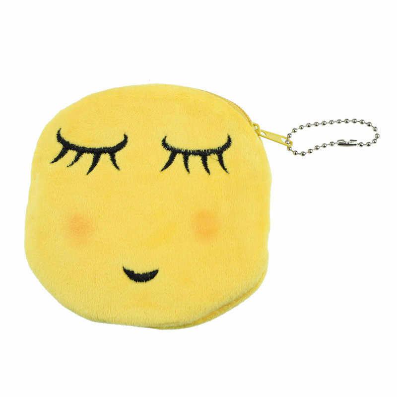 Hot Sale Da Moda Mulheres Menina Emoji Emoticons Sorriso Encantador Bonito Dos Desenhos Animados Da Bolsa Da Moeda Da Carteira Pequena bolsa Com Zíper Saco de Dinheiro Carteiras Presente