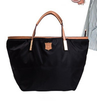 Large women's  waterproof nylon  canvas handbag,tote  shoulder ,travel,luggage beach  bag  for girls ,lady's bags