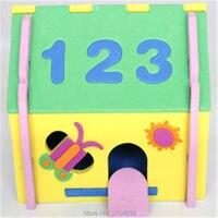 2016 Nouveau Mignon DIY 3D Champignon Nombre Maison Puzzle Modèle Artisanat EVA Mousse Artisanat de La Maternelle Développement Jouets Enfants