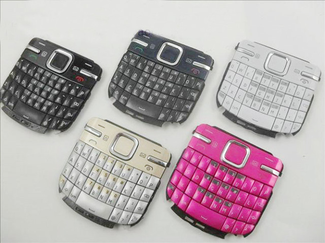 reputable site 901bf b7eeb US $5.52 8% OFF|Black/Blue/Gold/Red/White New Ymitn Mobile Phone Housing  Cover Case Keypads Keyboards Buttons For Nokia C3 C3 00 C3 00-in Mobile  Phone ...