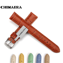 CHIMAERA 18mm 19mm 20mm 21mm 22mm Colorful Genuine Leather Watch Strap for Hours Watch Band for Tissot Omega Seiko Casio
