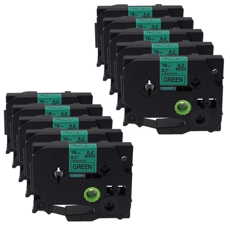 10 PCS 18mm tze741 tze 741 tze 741 Compatible for Brother Laminated Label Ptouch Tapes Black