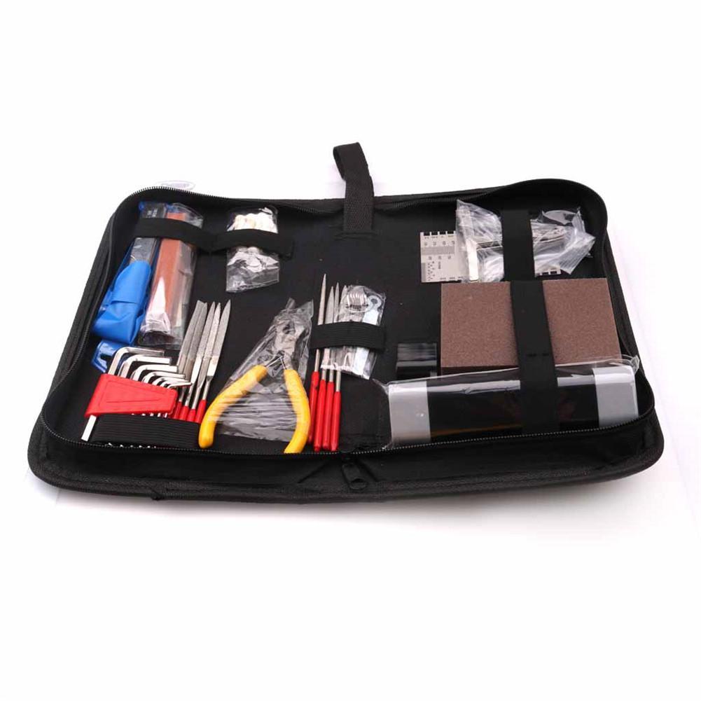 Orphee Guitar Repair Tool Full Set Bag Package Professional Maintenance Guitarra Repair Kit Care Tool Set Guitar Accessories