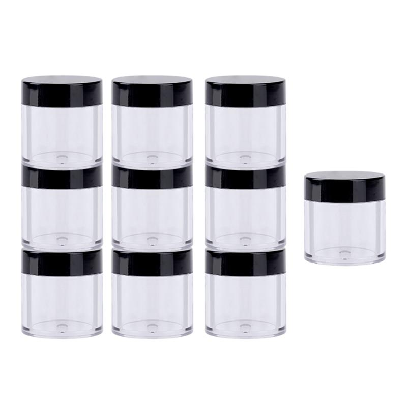 10pcs Empty Makeup Jar Pots Cosmetic Tools Face Skin Cream Container Refillable Bottles Nail Sequins Rhinestones Container Box 10pcs 5g cosmetic empty jar pot eyeshadow makeup face cream container bottle acrylic for creams skin care products makeup tool
