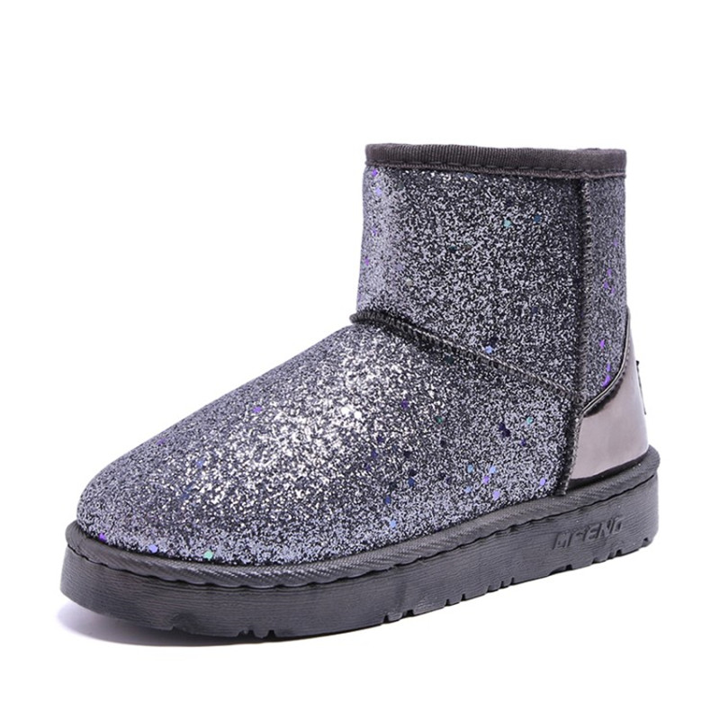 2018 New Winter Boots Women Ankle Boots Glitter Warm Snow Boots Platform  Shoes Woman Comfortable Booties Female Winter 4eab53a216f2