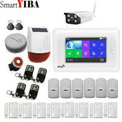 SmartYIBA bezprzewodowy SIM GSM domu RFID włamywacz bezpieczeństwa klawiatura dotykowa system alarmowy Wi-Fi GSM zestaw czujników w wielu krajach głos