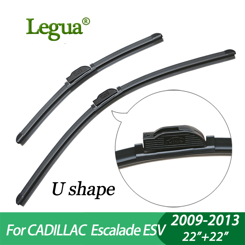 Legua Wiper blades for CADILLAC Escalade ESV (2009-2013), 22+22,car wiper,Boneless, windscreen wiper, Car accessory