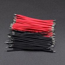 100 шт./лот Оловянная макетная плата кабель для пайки ПП 24AWG 5 см Fly Перемычка провода кабель оловянные проводящие провода 1007-24AWG разъем провода