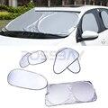 6 Pcs/Set With 12 Suction Cups Foil Flap Car Sun Shade Car Curtain Windshield Visor Rear Head Back Side Window Protect Car Cover