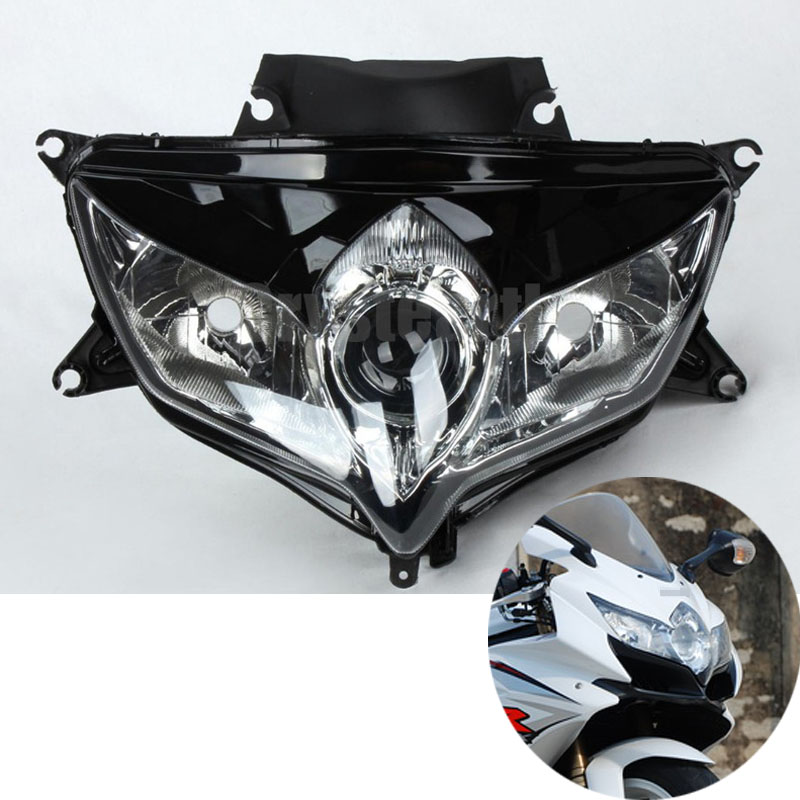 Motorcycle Front Headlight Head Light Headlamp For Suzuki GSXR600 GSXR750 2008-2009 GSXR 600/750 GSX-R600 GSX-R750 08 09 K8 front upper fairing cowling headlight headlamp stay bracket holder for 2004 2005 suzuki gsxr600 gsxr750 gsxr gsx r 600 750 k4 k5