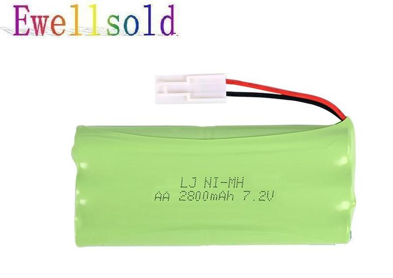 Ewellsold 7.2v 2800mAh Ni-MH AA rechargeable battery EL-2P plug for RC car RC truck RC boat RC tank ewellsold 2pcs lot 4 8v 700mah ni cd aa battery for rc car