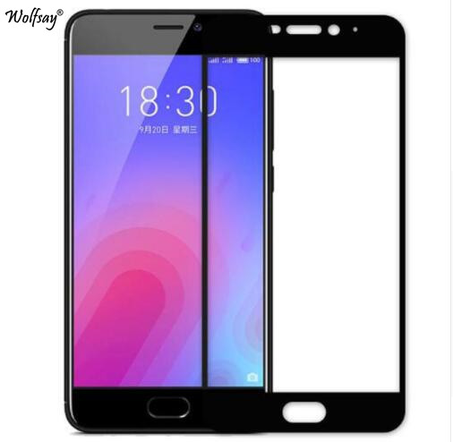 Curved Edge Screen Protector For Meizu M6 Glass Tempered Glass Meizu M6 Glass For Meizu M6 M711H Full Cover Phone Film 5.2