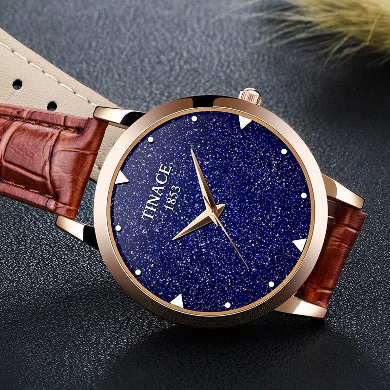 Nova marca de relógio de quartzo senhoras relógio de couro à prova d' água relógio de forma mulher romântica relógio Montre Femme Relogio Faminino - 6
