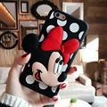 Mickey Minnie three-dimensional cartoon For iphone5 5s se 6 6s 6sPlus 7 7Plus couple phone shell silicone sets free shipping
