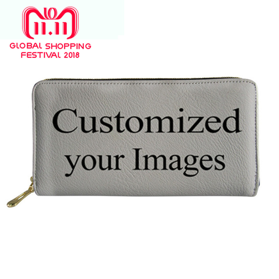 Customized Image Women Wallet Schnauzer 3D Printing Female P