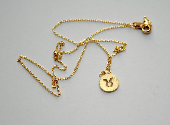 handmade necklaces product zodiac shop ktcollection taurus star sign gold necklace displays