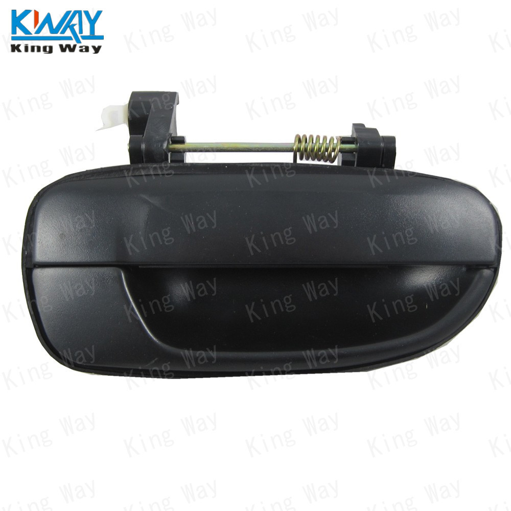 Black Exterior Door Handle For 95-99 Hyundai Accent Front Rear Left Right 4 Pcs