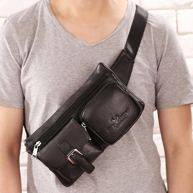 New Men Genuine Leather Cowhide Vintage Belt Bum Travel Hip Bum Belt Pouch Fanny Pack Waist Purse Bag