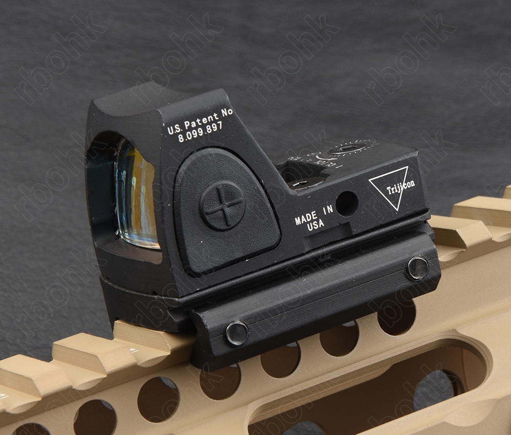 Mini Trijicon RMR 1x Red Dot Sight Wiht 1913 20mm Picatinny Rail Mount Base M9897