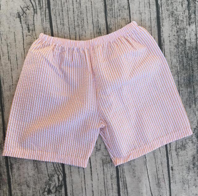 wholesale boutique boys Seersucker shorts New style boys clothing underwear boxer shorts sporting wear