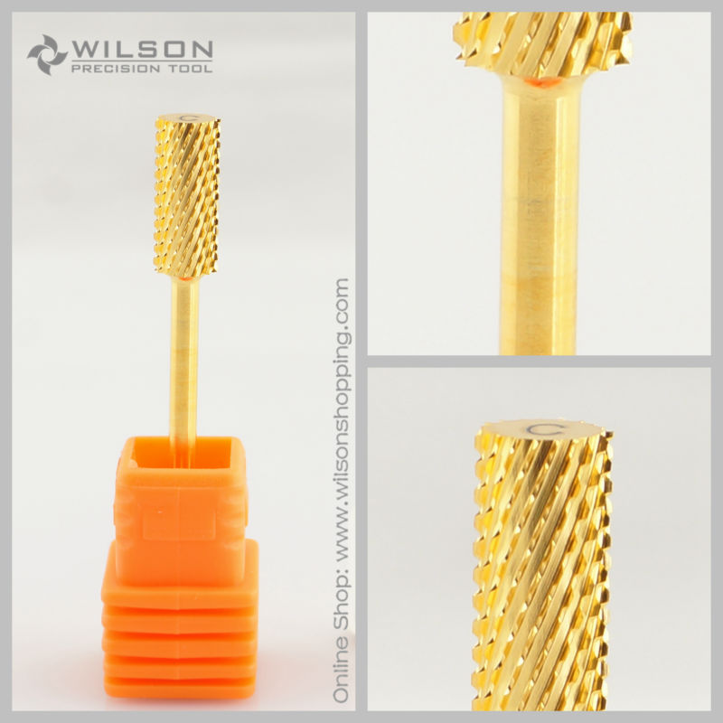 2pcs - Small Barrel Bit - Coarse (C-1140024) - Gold - WILSON Carbide Nail Drill Bit 2pcs - Small Barrel Bit - Coarse (C-1140024) - Gold - WILSON Carbide Nail Drill Bit