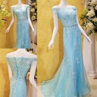 New Design 2017 Sexy Mermaid Boat Neck Short Sleeves Evening Dresses Kaftan Custom Made Dubai Evening