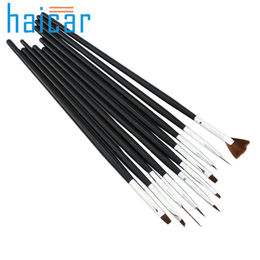 HAICAR 10pcs set Professional Nail Brush Acrylic Nail Tools Set Painting Pen Art Tips g6930