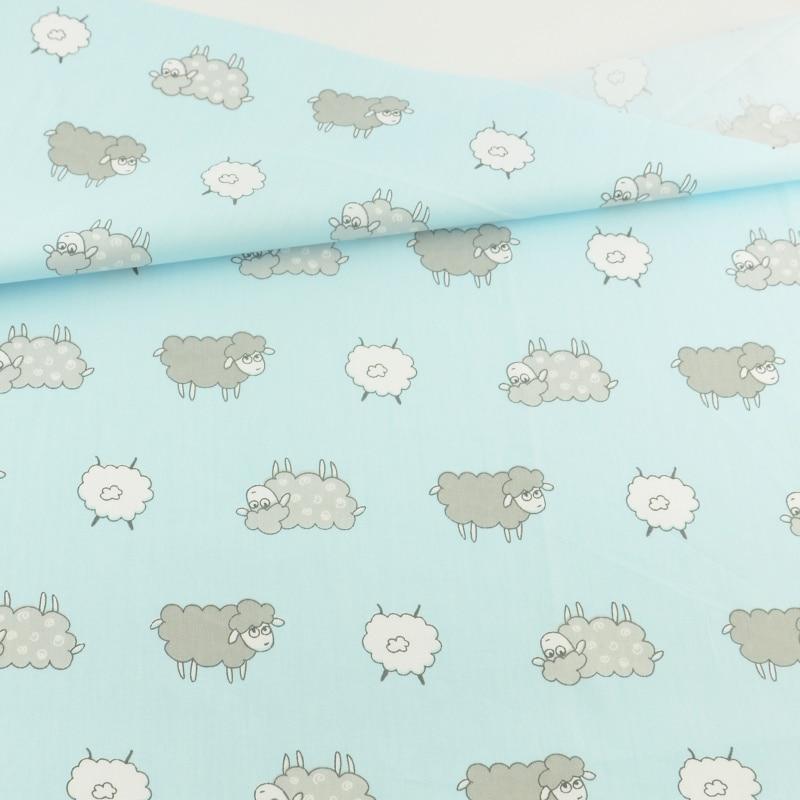 Oveja azul decoración del arte teramila telas tecido patchwork quilting coser te