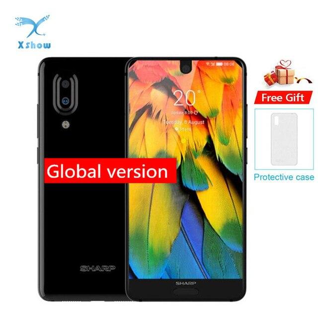 Смартфон SHARP AQUOS C10 S2 с глобальным ПО, 4 ГБ ОЗУ 64 ГБ ПЗУ, Snapdragon 630 восемь ядер, 5,5 дюймовый экран, мобильный телефон с NFC и двойной камерой 12 Мп