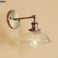 Antique Brass Wall Light Fixtures Glass Industrial Swing Long Arm Vintage Wall Lights Sconce Beside Lamp Lamparas De Pared