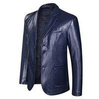 Classic Large Size 8XL Leather Jackets Men's Jacket Outwear Men's Coats Spring Autumn P U Jacket Coat 2019 New fashion