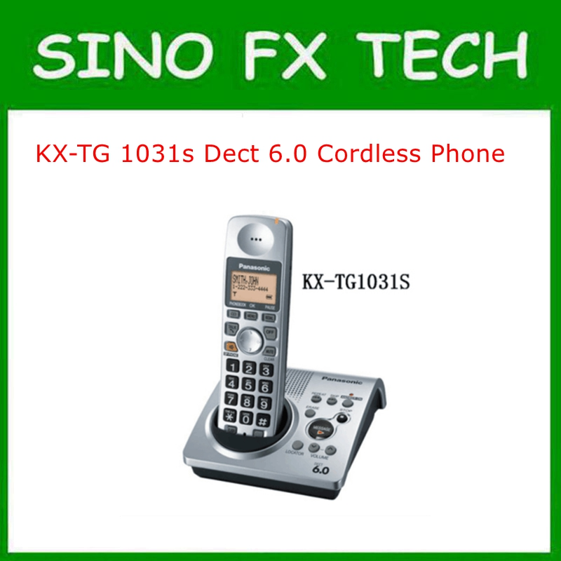 98% NEW Dect 6.0 Cordless Phone one Handset Digital Wireless Telephone KX-TG1031 wireless retro telephone handset and wire radiation proof handset receivers headphones for a mobile phone with comfortable call