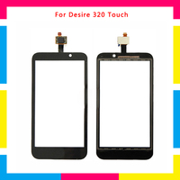 5pcs/lot high quality Touch Screen Digitizer Sensor Outer Glass Lens Panel For HTC Desire 320