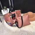2017 женская мода сумка почтальона сумочки Mickey дизайн бахромой сумка набор досуг путешествия девушки сумки женские сумки мешков основных