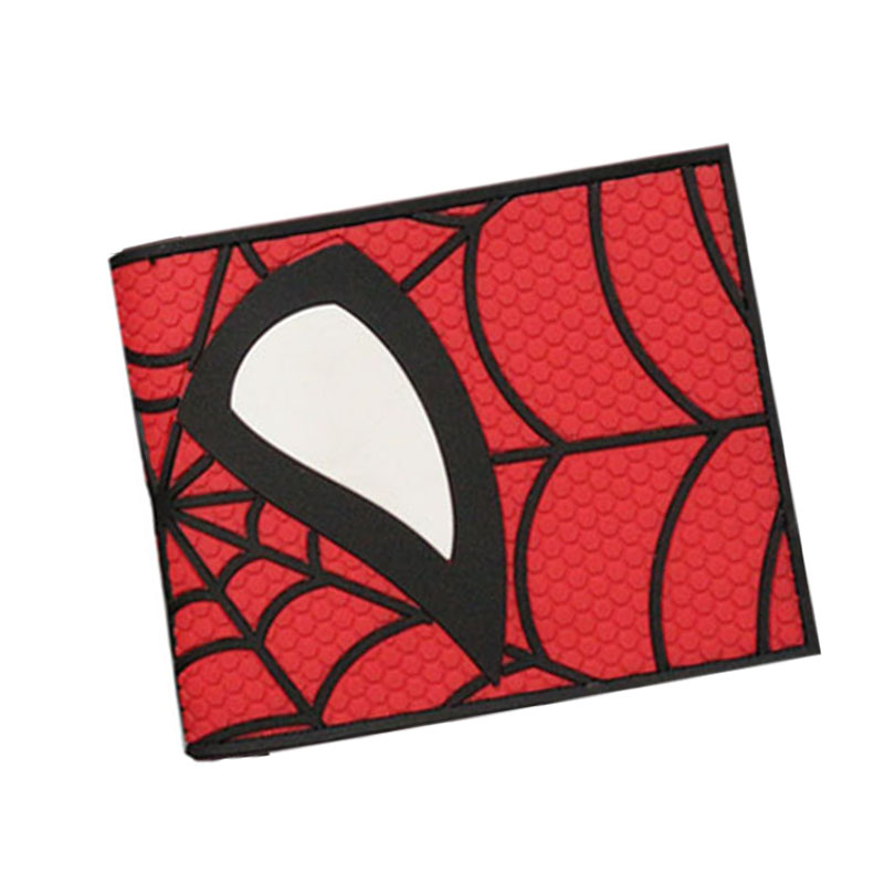 Marvel DC Hero Spider Man Wolverine SuperMan Deadpool Anime Men Wallets Short Slim Leather Coin Purse Zipper Balso Card Holder dilong p3950 usb 2 0 wired flight joysticks for ps3 black siver 2 pcs