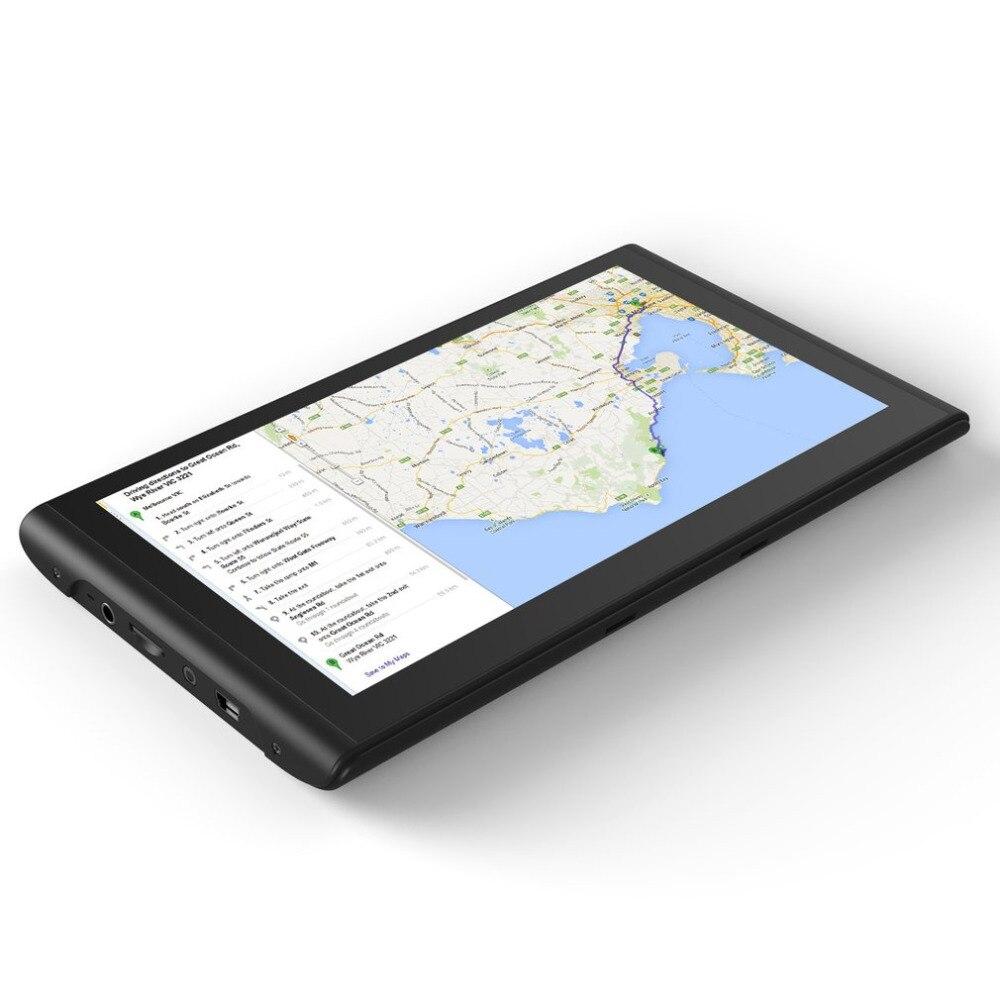 Q8 7-дюймовый 8 ГБ Встроенная память + 128 М Оперативная память емкостный Сенсорный экран gps навигатор 800*480 HD Портативный gps навигации для автомо...