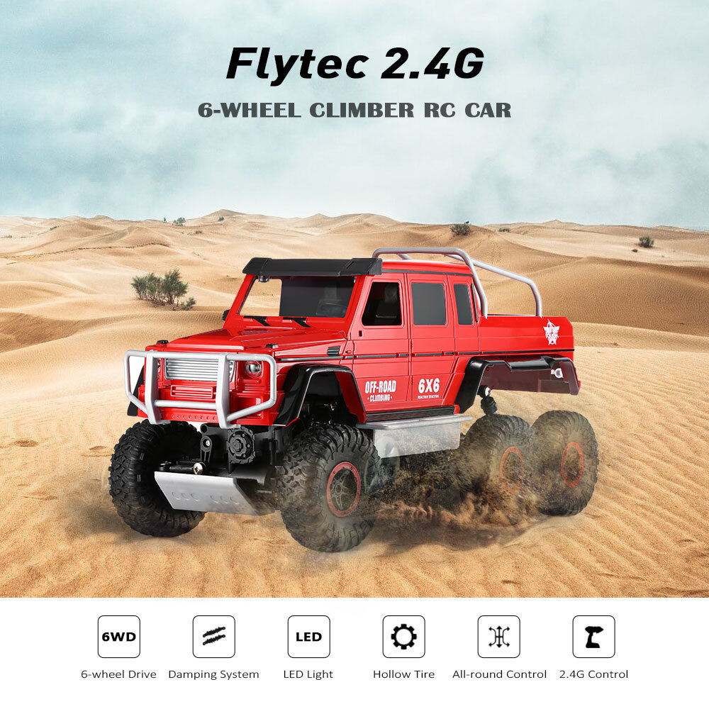 Flytec 699 - 119 Remote Control RC Cars Toys 1 / 10 Full Function Simulation 6-Wheel Off-Road Climber RC Car Xmas Gifts For Kids