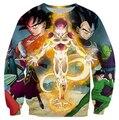 Harajuku cartoon 3d sweatshirt jumper Dragon ball z Frieza Vegeta Goku  sweatshirt hoodies pullovers outerwear